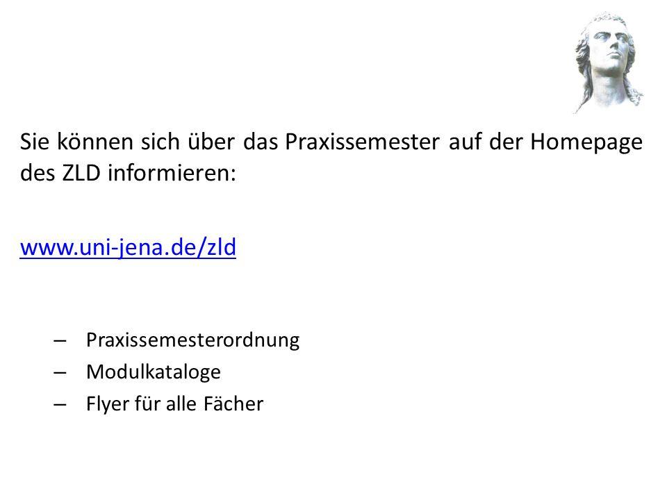 Sie können sich über das Praxissemester auf der Homepage des ZLD informieren: