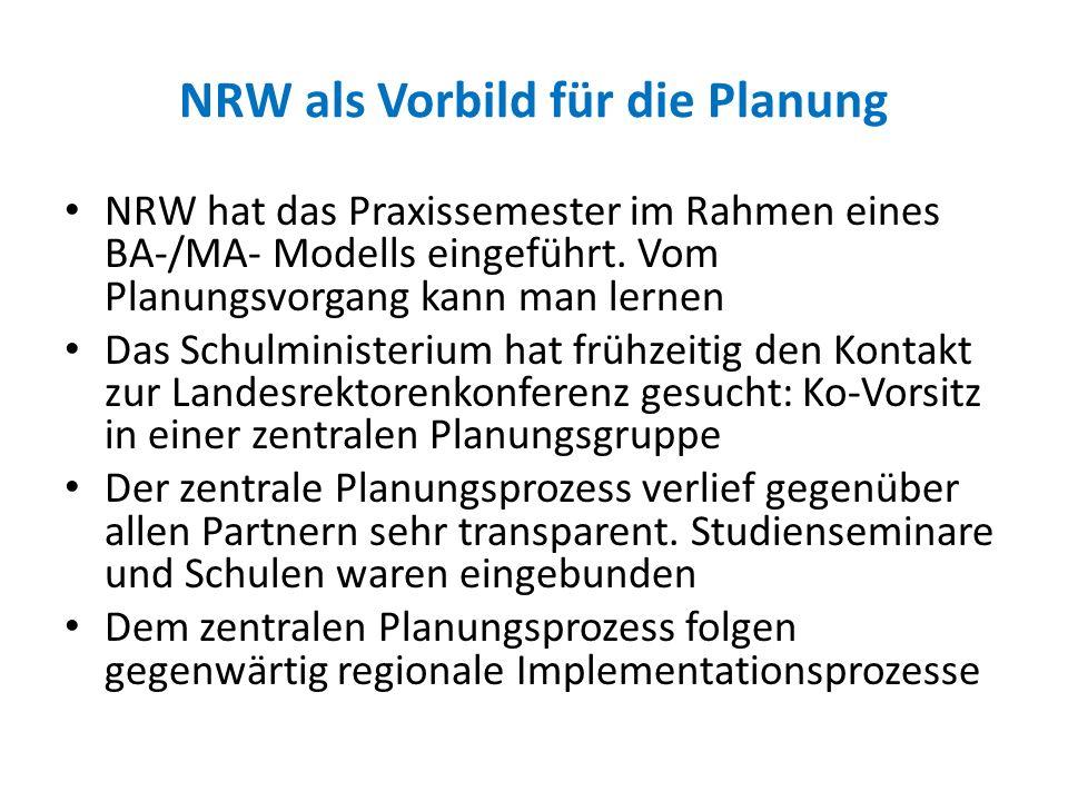 NRW als Vorbild für die Planung