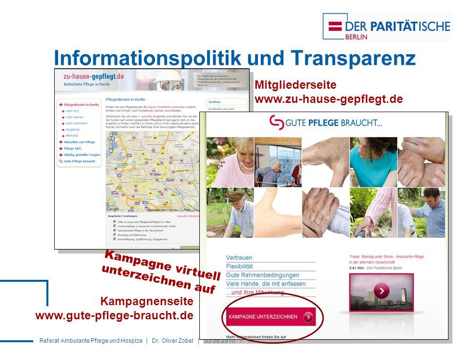 Informationspolitik und Transparenz