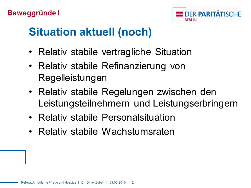 Situation aktuell (noch)
