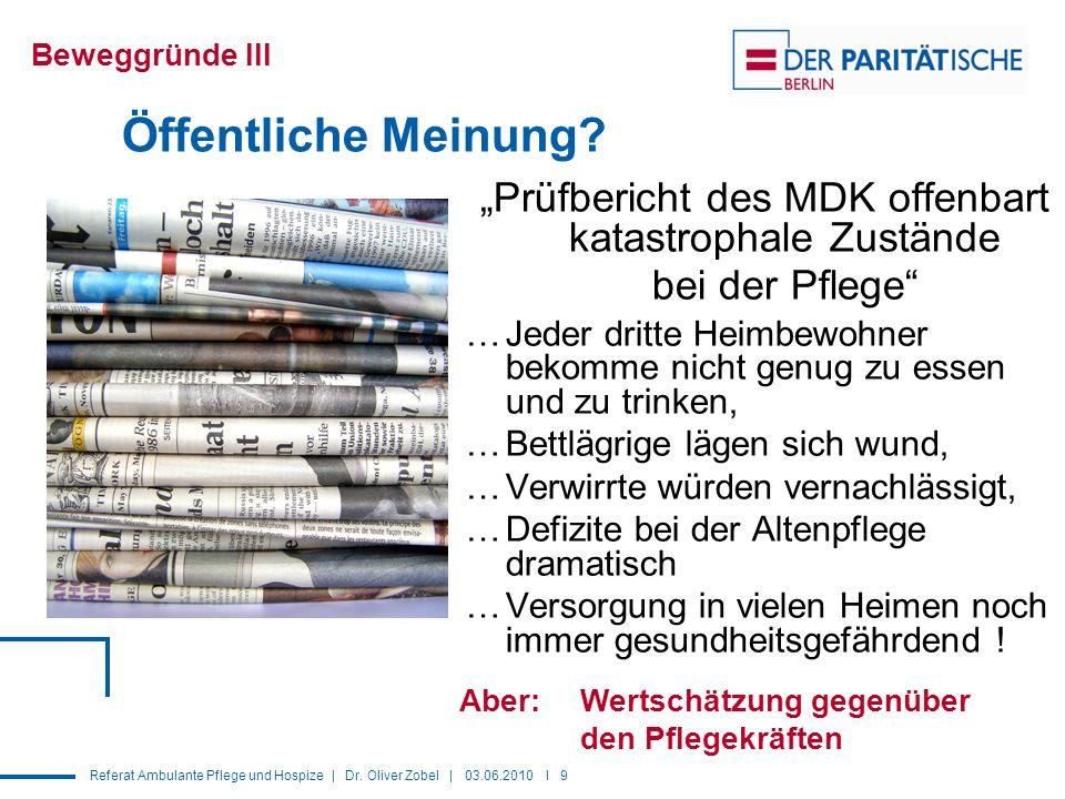"""""""Prüfbericht des MDK offenbart katastrophale Zustände bei der Pflege"""
