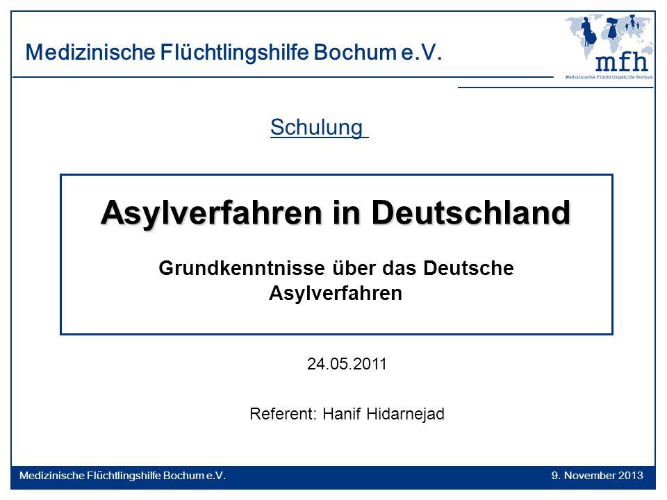 Asylverfahren in Deutschland Grundkenntnisse über das Deutsche