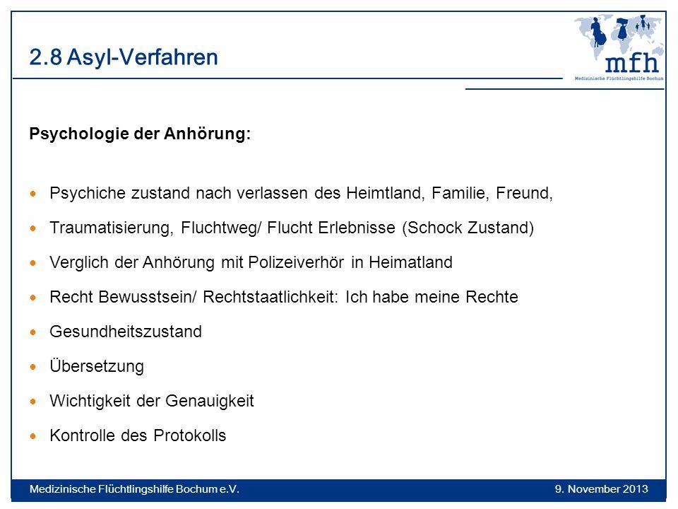 2.8 Asyl-Verfahren Psychologie der Anhörung: