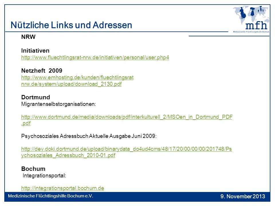 Nützliche Links und Adressen