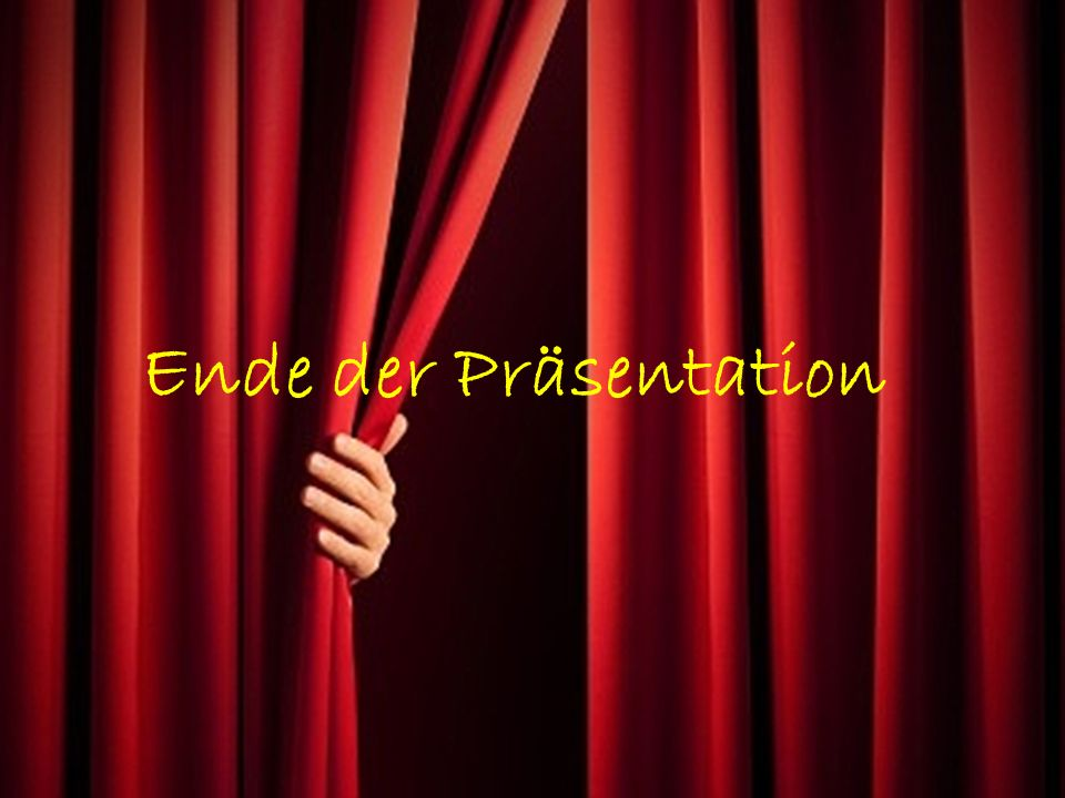 Ende der Präsentation G