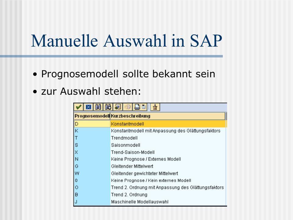 Manuelle Auswahl in SAP