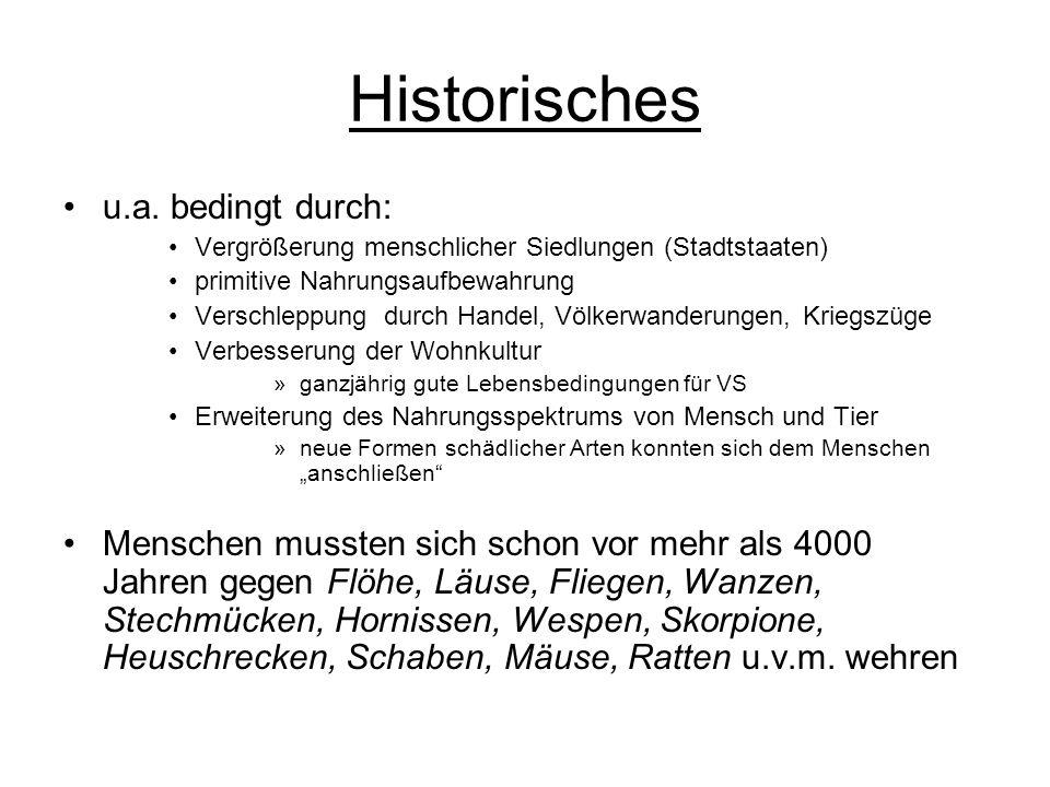 Historisches u.a. bedingt durch: