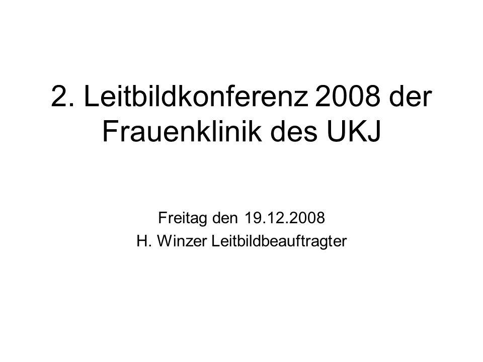 2. Leitbildkonferenz 2008 der Frauenklinik des UKJ