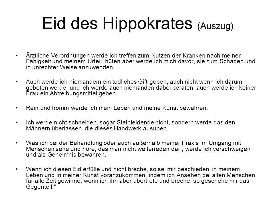 Eid des Hippokrates (Auszug)