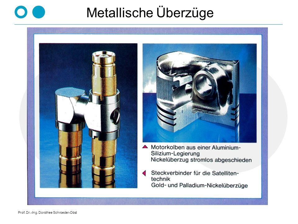Metallische Überzüge Prof. Dr.-Ing. Dorothee Schroeder-Obst
