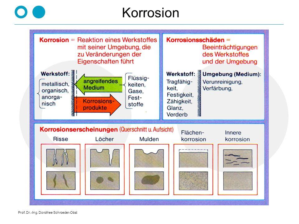 Korrosion Prof. Dr.-Ing. Dorothee Schroeder-Obst