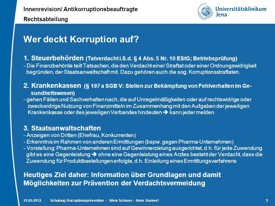 Wer deckt Korruption auf