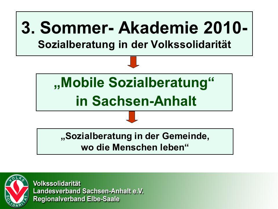 3. Sommer- Akademie 2010- Sozialberatung in der Volkssolidarität