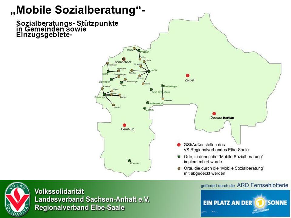 """""""Mobile Sozialberatung - Sozialberatungs- Stützpunkte in Gemeinden sowie Einzugsgebiete-"""