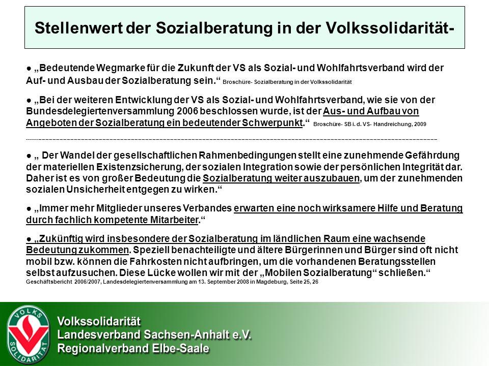 Stellenwert der Sozialberatung in der Volkssolidarität-