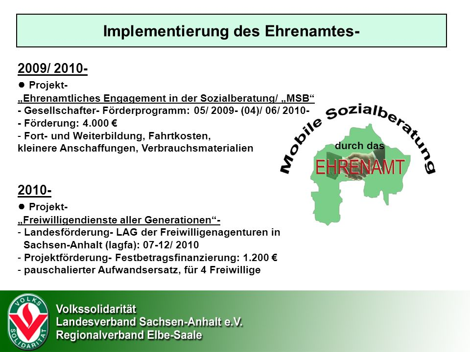 Implementierung des Ehrenamtes-