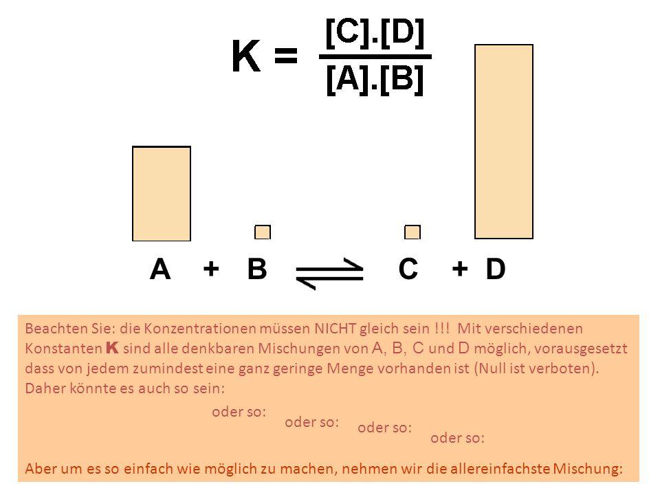 Chemisches Gleichgewicht = dynamisches Gleichgewicht