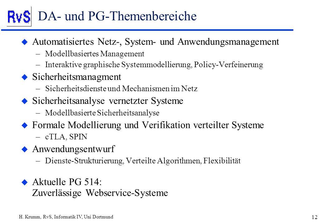 DA- und PG-Themenbereiche