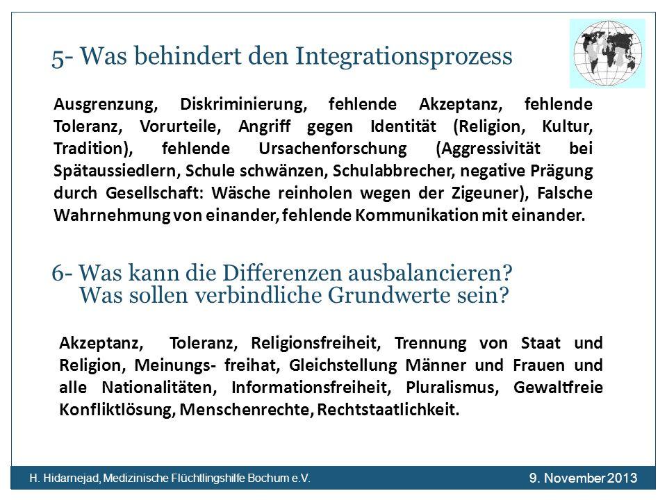 5- Was behindert den Integrationsprozess