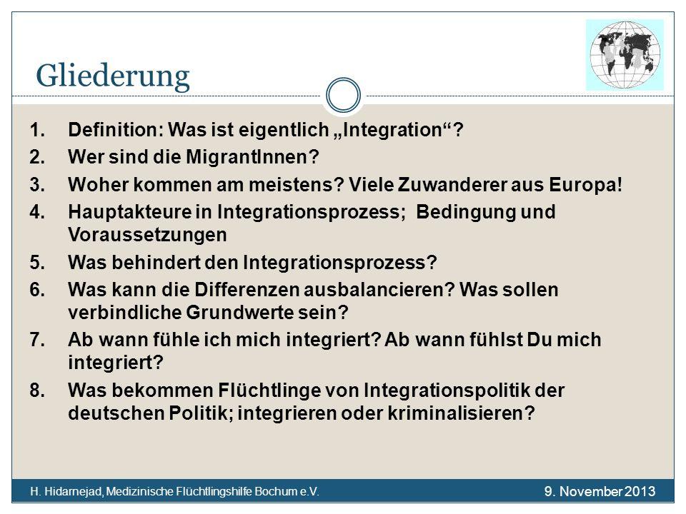 """Gliederung 1. Definition: Was ist eigentlich """"Integration"""