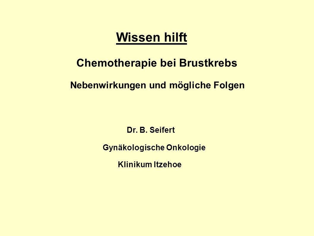 adjuvante chemotherapie brustkrebs