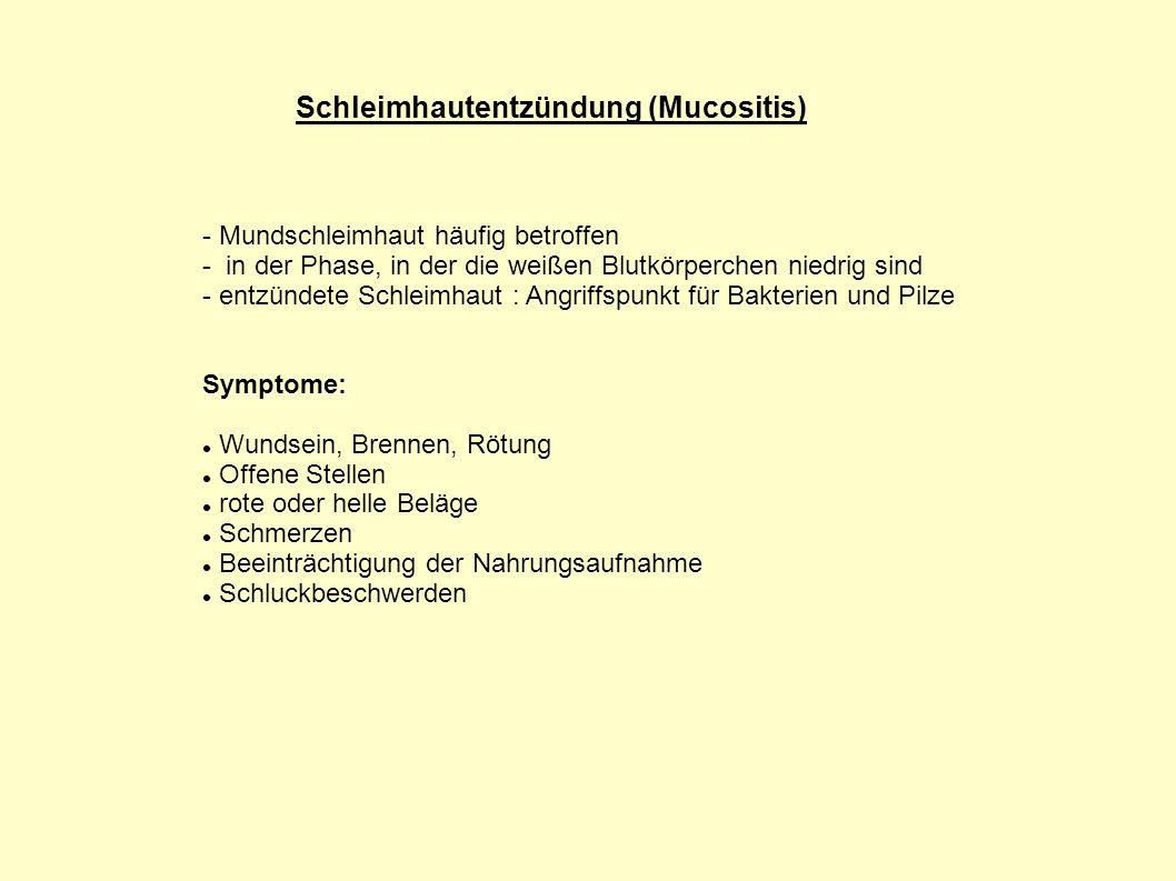 Schleimhautentzündung (Mucositis)