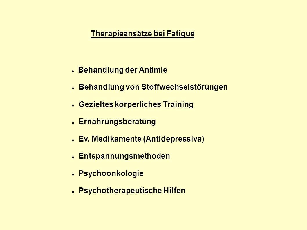 Therapieansätze bei Fatigue