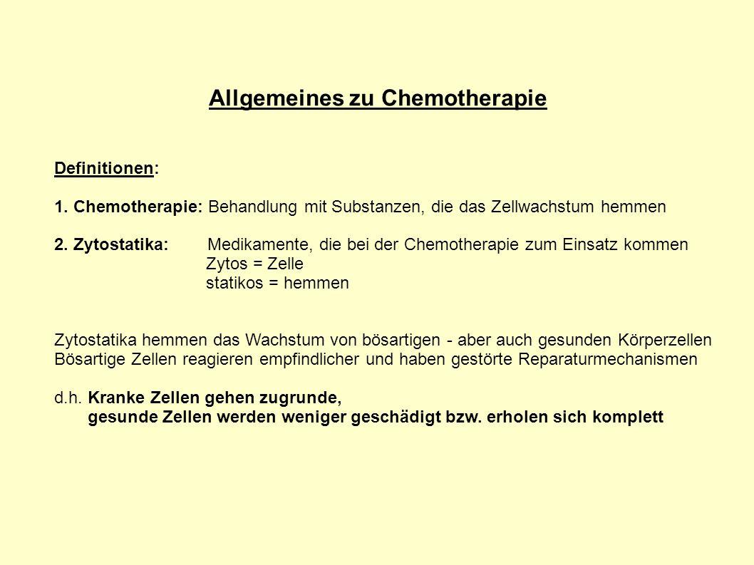 Allgemeines zu Chemotherapie