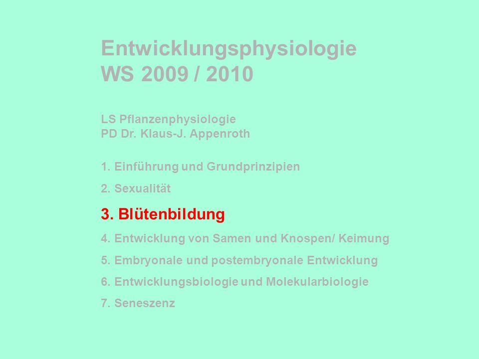 Entwicklungsphysiologie WS 2009 / 2010