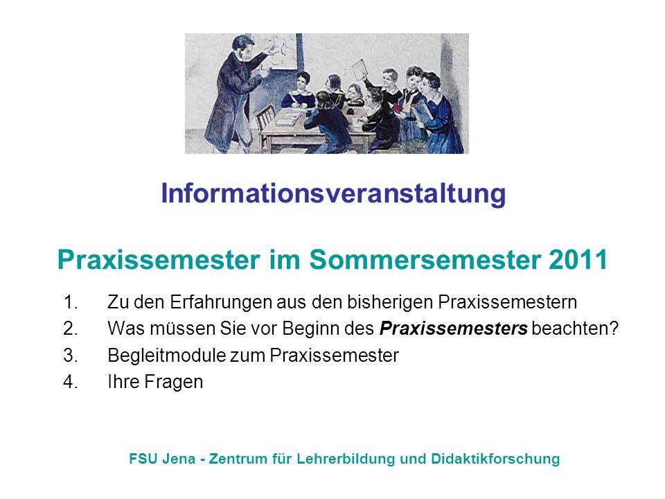 Informationsveranstaltung Praxissemester im Sommersemester 2011