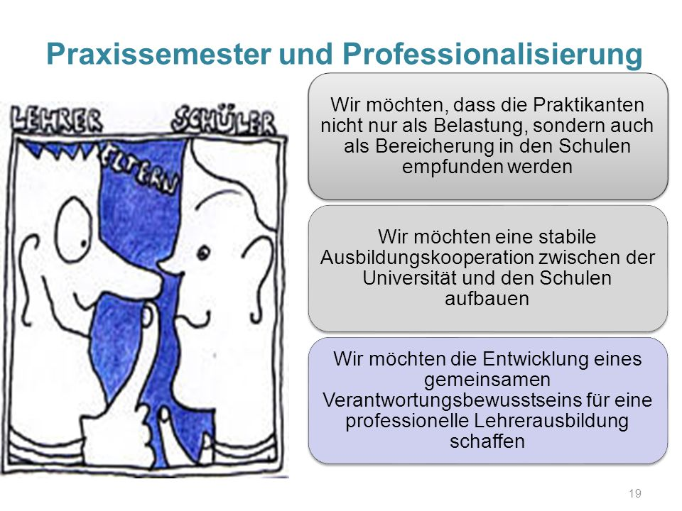 Praxissemester und Professionalisierung