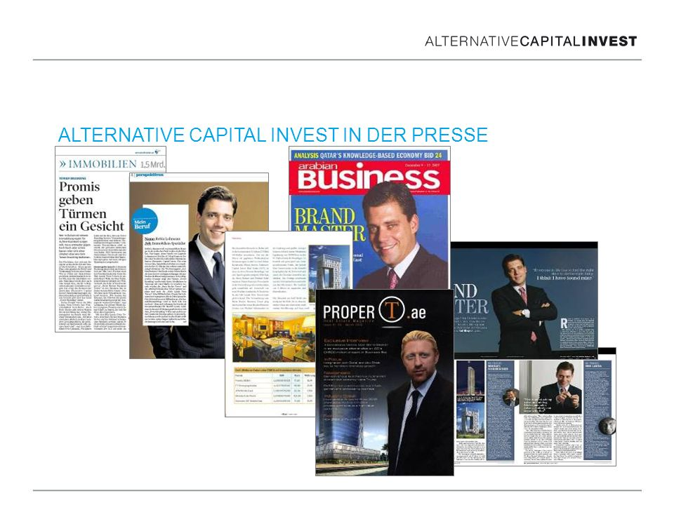 ALTERNATIVE CAPITAL INVEST IN DER PRESSE