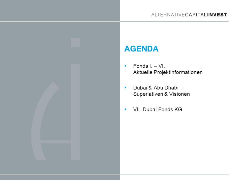 AGENDA Fonds I. – VI. Aktuelle Projektinformationen