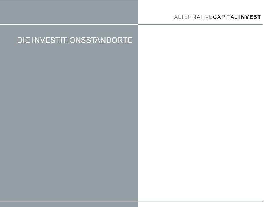 DIE INVESTITIONSSTANDORTE