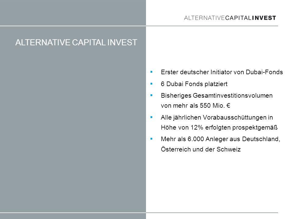 ALTERNATIVE CAPITAL INVEST