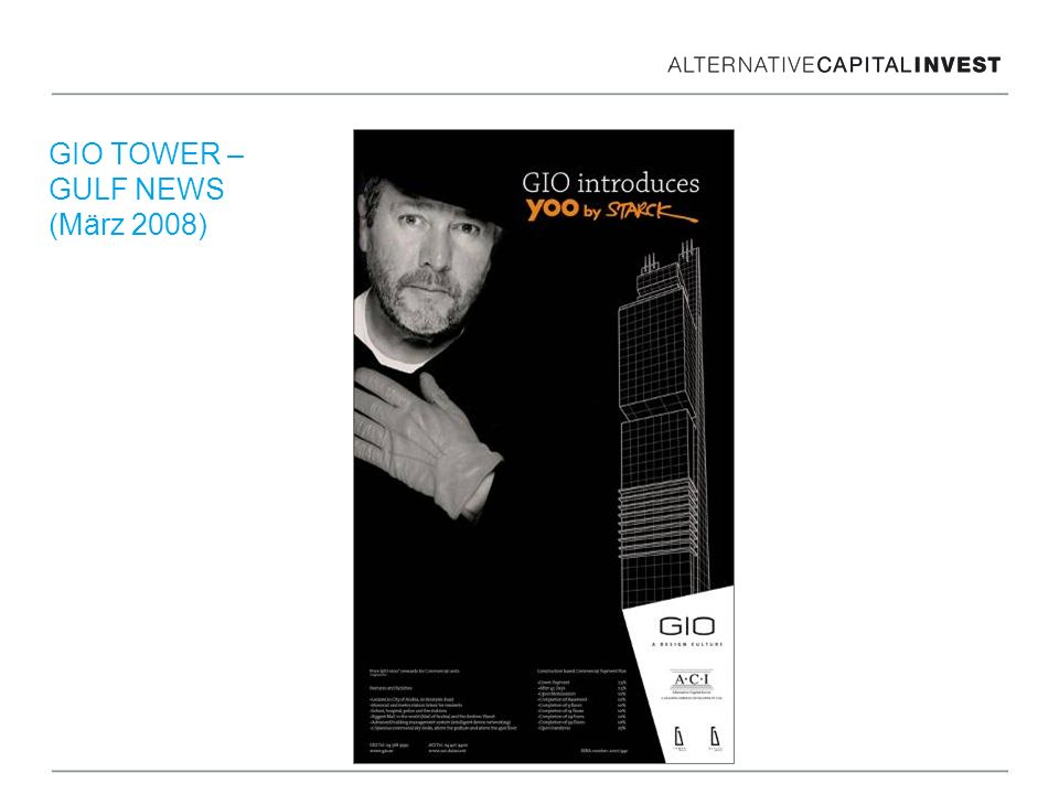 GIO TOWER – GULF NEWS (März 2008)