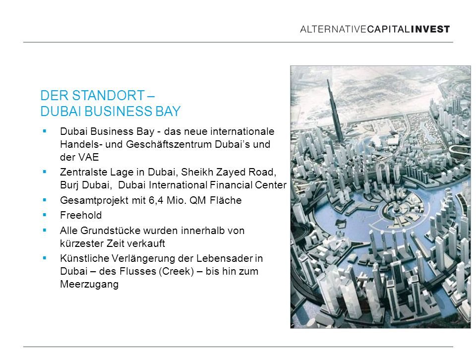 DER STANDORT – DUBAI BUSINESS BAY