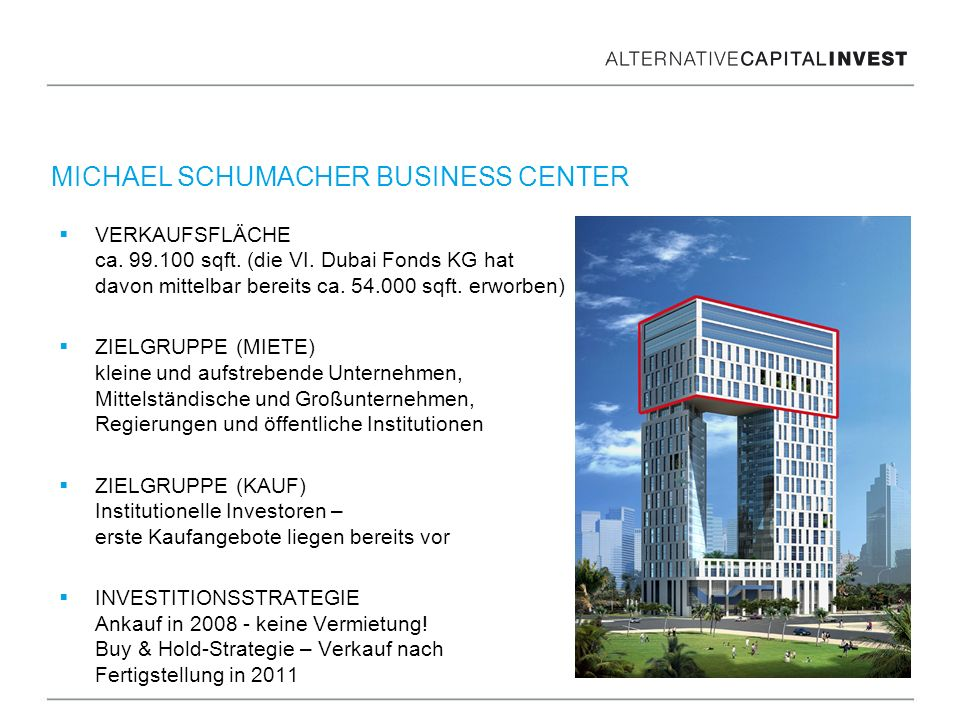 MICHAEL SCHUMACHER BUSINESS CENTER