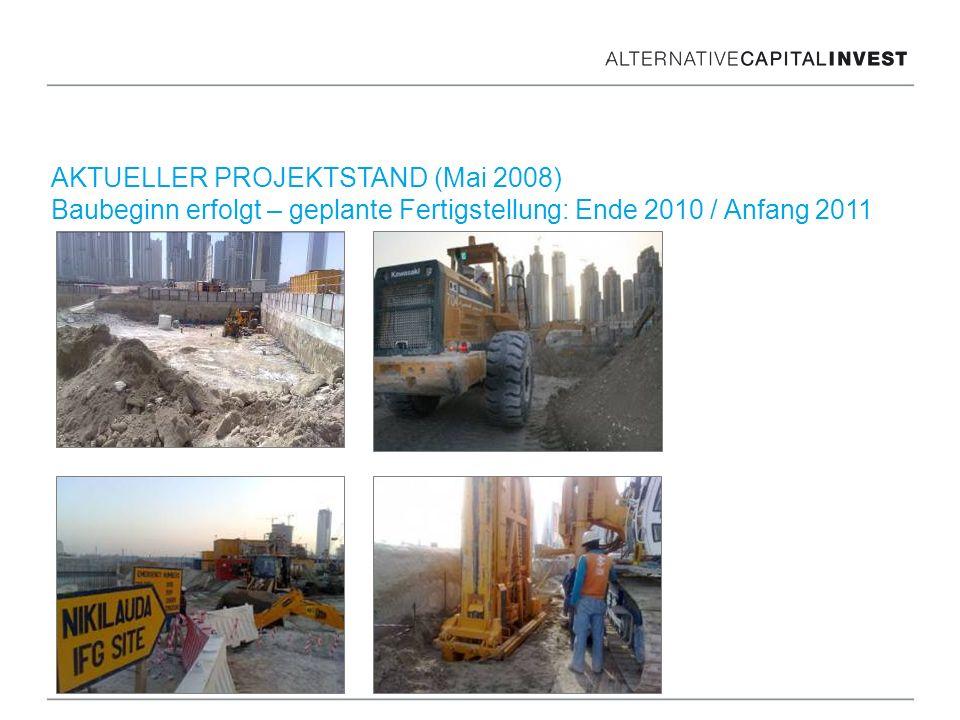 AKTUELLER PROJEKTSTAND (Mai 2008) Baubeginn erfolgt – geplante Fertigstellung: Ende 2010 / Anfang 2011