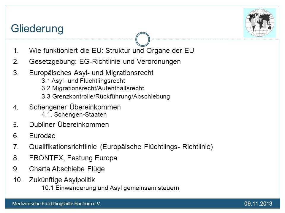 Gliederung 1. Wie funktioniert die EU: Struktur und Organe der EU