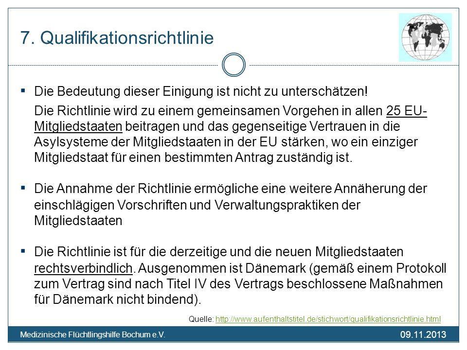 7. Qualifikationsrichtlinie