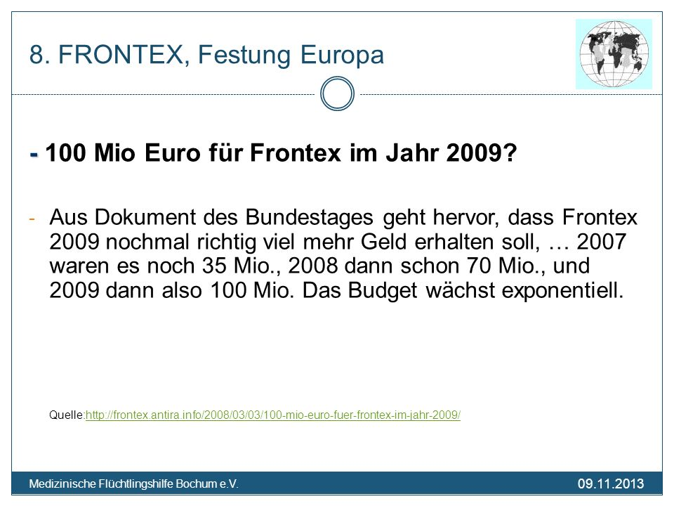 8. FRONTEX, Festung Europa