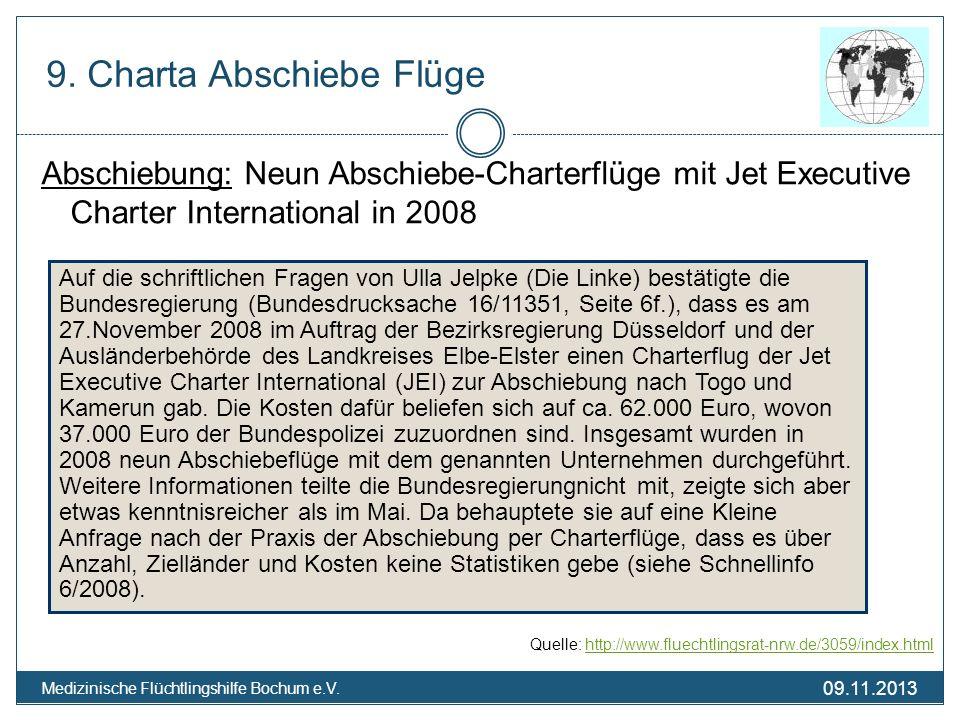 9. Charta Abschiebe Flüge