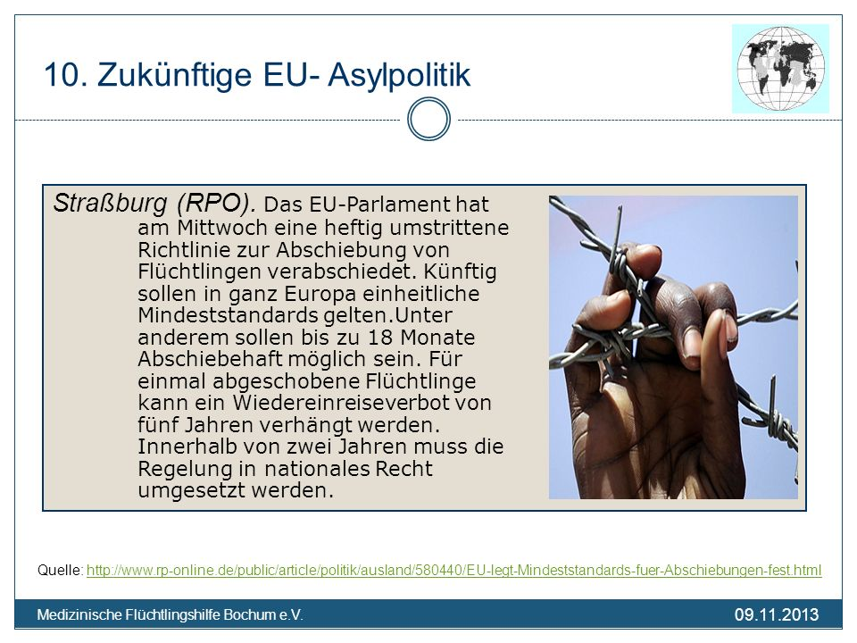 10. Zukünftige EU- Asylpolitik