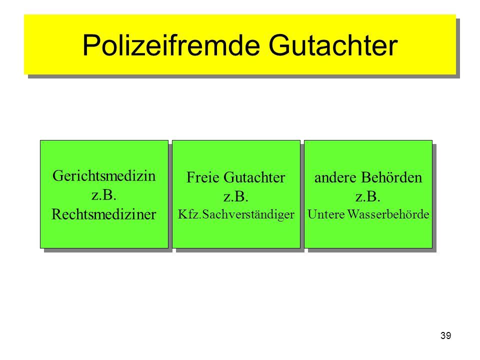 Polizeifremde Gutachter