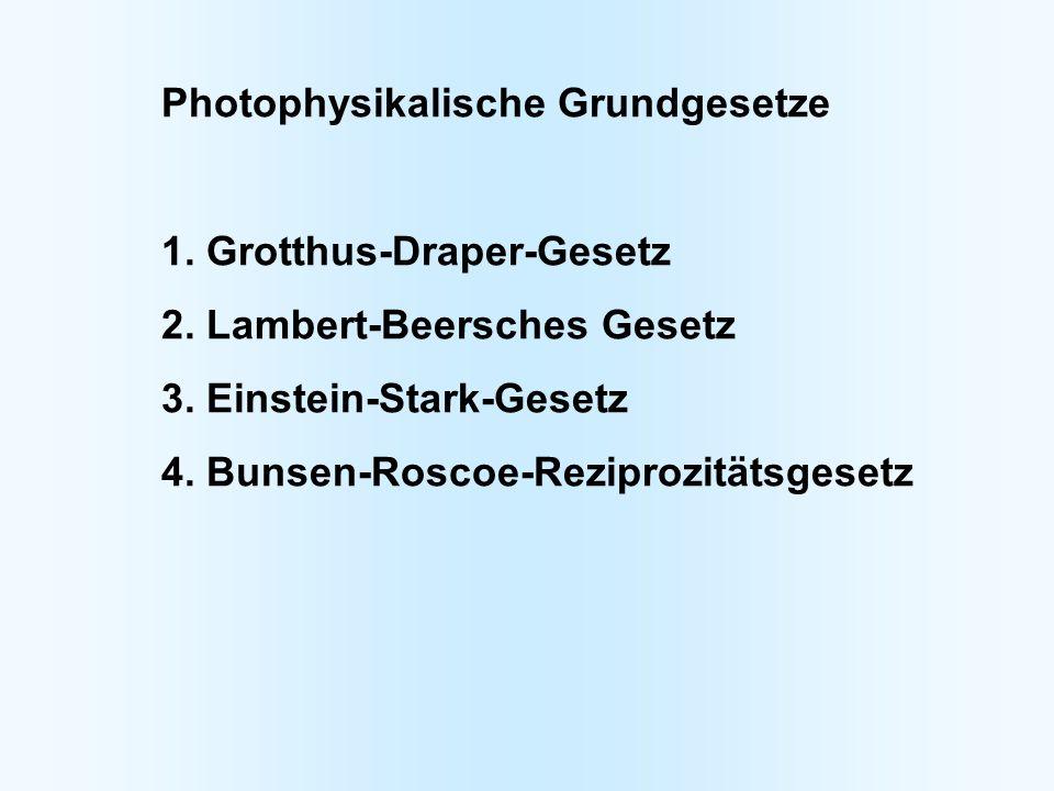 Photophysikalische Grundgesetze