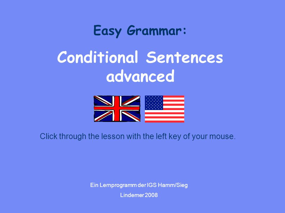 Conditional Sentences advanced