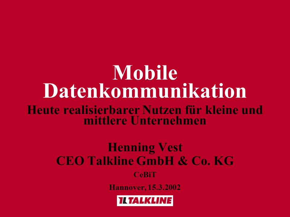 Mobile Datenkommunikation