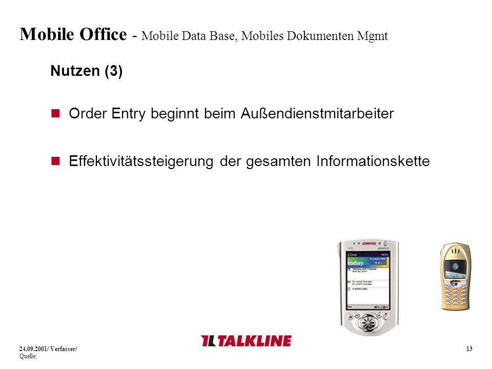 Mobile Office - Mobile Data Base, Mobiles Dokumenten Mgmt