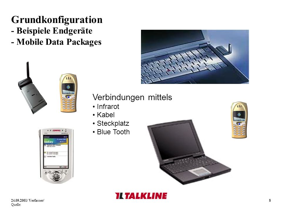 Grundkonfiguration - Beispiele Endgeräte - Mobile Data Packages